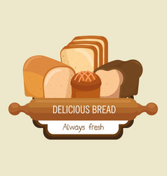 Bakery shop label icon vector