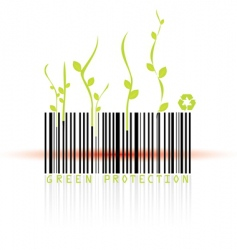 barcode and beam vector image vector image