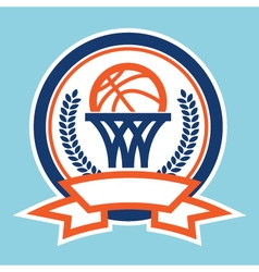 Basketball logo icon vector