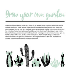Cacti banner vector