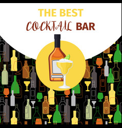 Cognac and cocktail icon bar banner vector