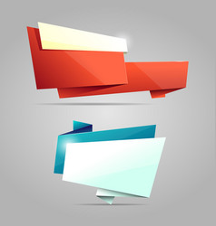 Colorful origami banners vector