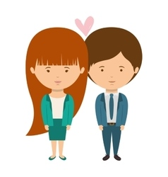 couple dressed formal style in love vector image