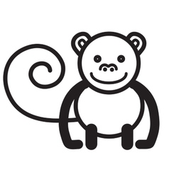 Cute animal monkey - vector