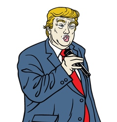 Donal trump speaking vector