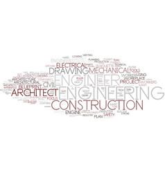 Engineer word cloud concept vector