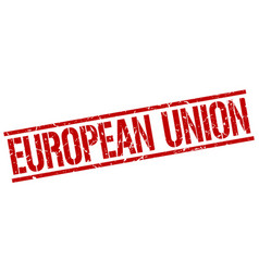 European union red square stamp vector