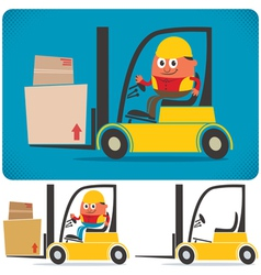 Forklift Driver vector image vector image