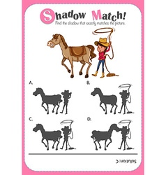 Game template with shadow matching horse and vector