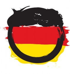 german circle flag vector image