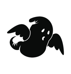 Ghost icon black vector image