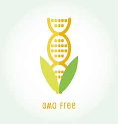 GMO free icon symbol desig vector image vector image