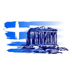 Greek motive vector image