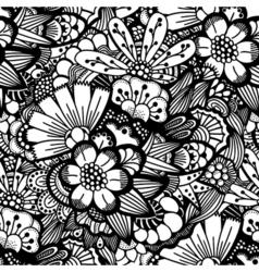Hand drawn floral wallpaper vector