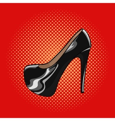 hand drawn pop art of an elegant woman shoes High vector image