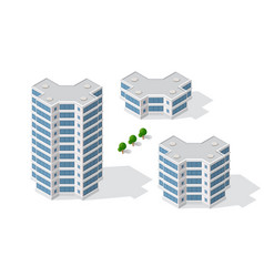 Isometric 3d dimensional skyscraper building of vector