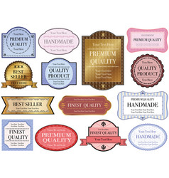 labels set 1 vector image