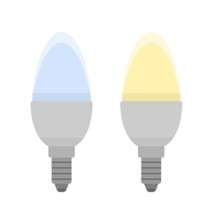 Led bulbs Flat color icon light bulb Energy vector image