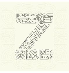 Letter Z Golden Monogram Design element vector image