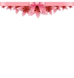 Lily flower banner on a white background vector