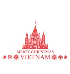 Merry christmas vietnam vector