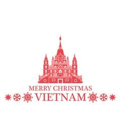 Merry christmas vietnam vector