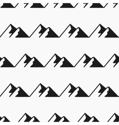 Mountains seamless pattern tourism vector