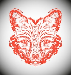 Muzzle foxes vector image vector image