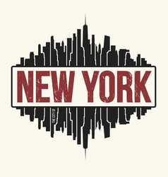 New york city graphic t-shirt design tee print vector