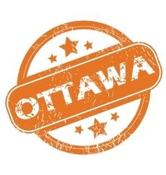 Ottawa round stamp vector