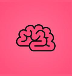 pink brain icon vector image vector image