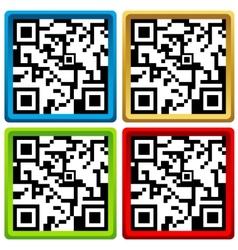 Qr code set vector