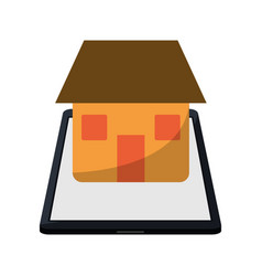Real estate smartphone app design vector