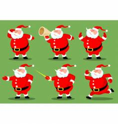 Santa's collection vector image vector image