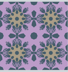 seamless abstract floral patternmandala pattern vector image vector image