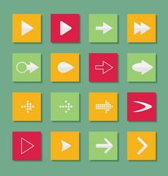set arrow icons of web design elements vector image vector image