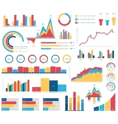 Set for infographics various design elements vector