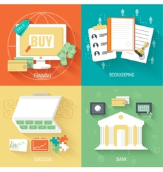 Set of social business life icons backgrounds in vector
