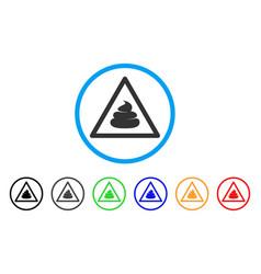 Shit warning icon vector