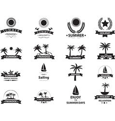 Summer emblem collection vector image