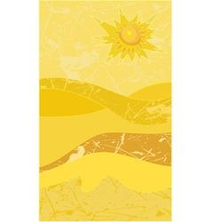 sunny desert grunge vector image