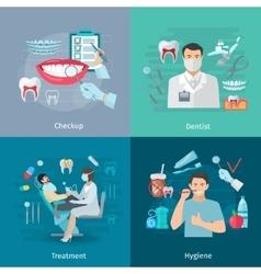 Teeth care square concept vector