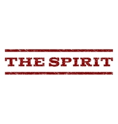 The spirit watermark stamp vector