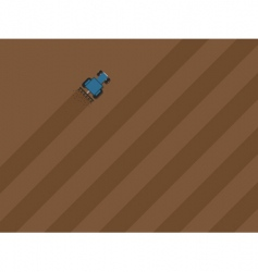Tractor ploughing field vector