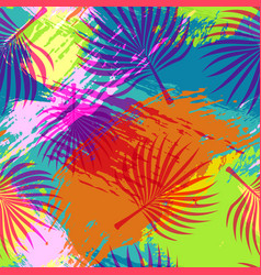 tropical summer pattern abstract palm leaf art vector image vector image