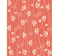 Valentines Foliage Pattern vector image vector image