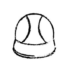 Worker construction helmet vector