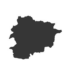 Andorra map silhouette vector