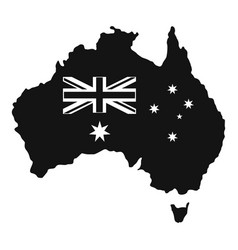 Australia icon simple style vector