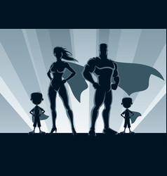 superhero family 2 boys vector image